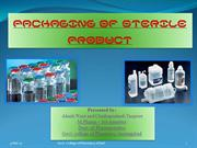 packaging of sterile ptds.