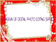 Overview of Digital Photo Editing Services