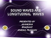 SOUND WAVES ARE LONGITUDINAL  WAVES