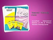 Diploma in pre & primary teacher training