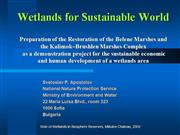 Wetlands for Sustainable World