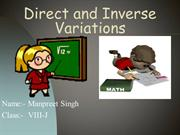 Maths ppt on Direct a Inverse Variationsnd