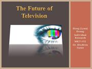 Hoang_Individual Research_The Future of Televsion