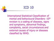 DSM-ICD-Mental Diseases class