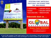 Global Advertisers : Trusted and Valued Advertising Hoarding