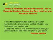 Hotels in Andaman and Nicobar Islands You're Essential Guide to Choose