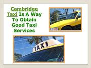 Cambridge Cab