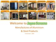 Frameless Shower Screens and Sliding Security Doors at Jayee Screens