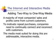 12-The Internet and Interactive Media