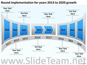 GROWTH IN YEARS 2013 TO 2020 POWERPOINT SLIDES