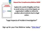 Legal Aspects of Incident Investigation