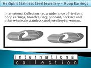 HerSpirit Stainless Steel Jewellery - Hoop Earrings