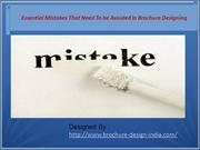 Some Common Mistakes in Brochure Designing