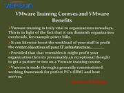 VMware Training Courses and VMware Benefits
