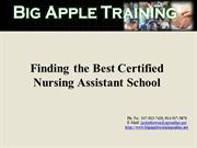 Finding the Best Certified Nursing Assistant School