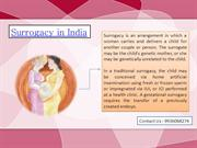 Surrogacy in India - Test Tube Baby Centre