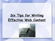 six tips for effective ways of writing content