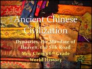 Ancient-Chinese-Civilization Final