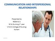 COMMUNICATION AND INTERPERSONAL RELATIONSHIPS PPT