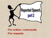 Reported speech, part 2