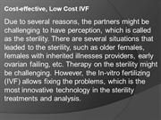 Cost-effective, Low Cost IVF