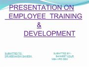 EMPLOYEE TRAINING & DEVELOPMENT BANMEET