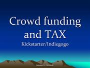 Kickstarter Canada - Is my funding taxable income?
