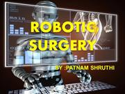 Robotic Surgery.