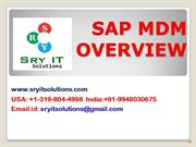 SAP MDM ONLINE TRAINING | SAP MDM COURSE DETAILS