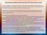 Ghotit Dyslexia Software Demonstrates 25% Improvement in 2013
