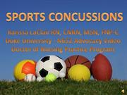 Sports Concussions - Karissa LaClair