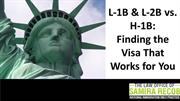 L-1B $ L-2B vs. H-1B: Finding the visa That Works for You