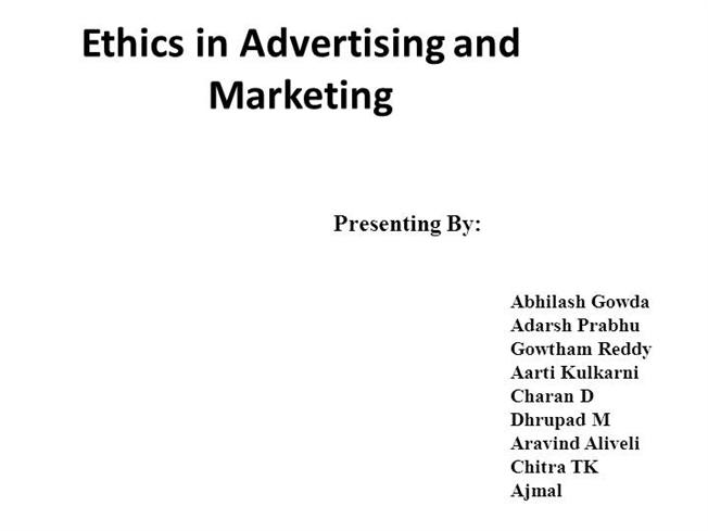 ethics and advertising
