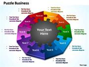 PUZZLE BUSINESS PROCESS 10 STAGES PPT Diagram
