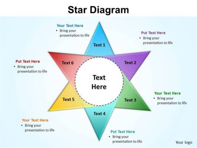 Circular process star diagram 6 stages powerpoint diagram related powerpoint templates ccuart Gallery