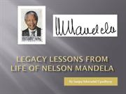 Legacy Lessons from Life of Nelson Mandela