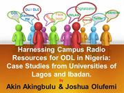 Harnessing Campus Radio Resources for ODL in Nigeria