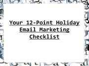 Your 12-Point Holiday Email Marketing Checklist