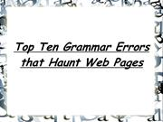 Top Ten Grammar Errors that Haunt Web Pages