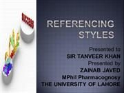 referencing styles presentation