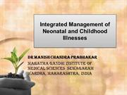 IMNCI : Integrated Management of Neonatal and Childhood Illness