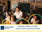 Education Reform in India-Lessons from around the World_Azad Oommen