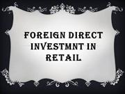 FDI in Retail PPT