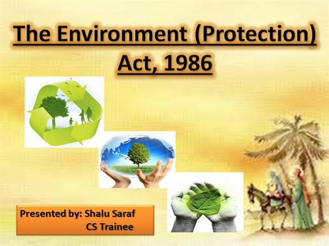 Environment protection act |authorstream.