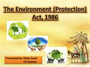 the environmental (protection) act, 1986