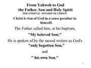 IC6 The Eternal Sonship of Christ