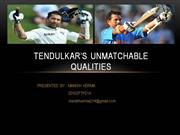 sachin tendulkar's qualities