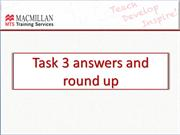 Block 4 Task 3 Answers and round up
