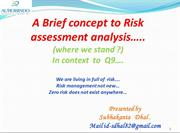 concept to risk management ( ICH Q9)