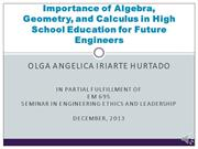 Importance of Algebra in High School Education for Future Engineers